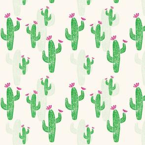 Linocut Cacti #2