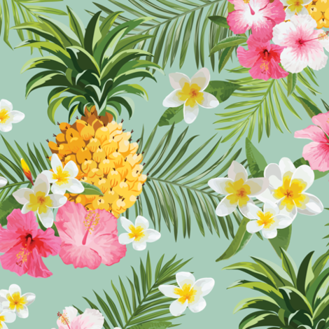 Hawaiian Pineapple fabric by lunastone_crafts on Spoonflower - custom fabric