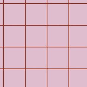 Citymap Grid - Lilac/Rust