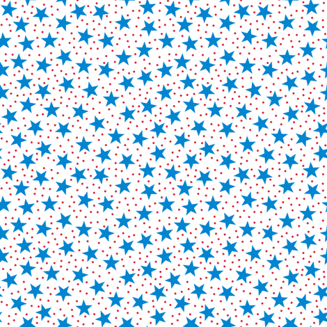 Stars and Dots - Blue Red and White fabric by arwenartanddesign on Spoonflower - custom fabric