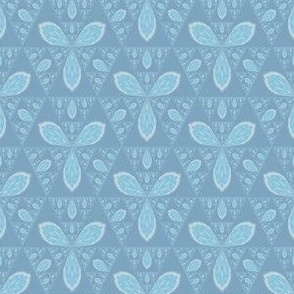 Light Blue Sierpinski Triangle Flowers
