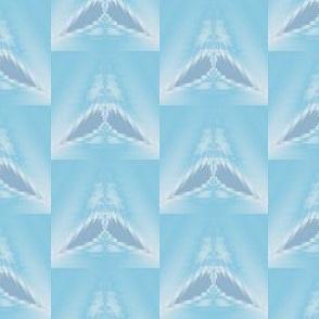 Light Blue Wings Tiled Geometric