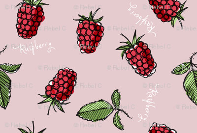Raspberry, with words