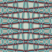 AW 4 -  Geometric Trellis Matrix in maroon mauve and teal, small scale, horizontal