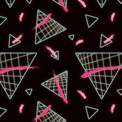 Postmodern Neon 80s Lights No.4 fabric by elliottdesignfactory on Spoonflower - custom fabric