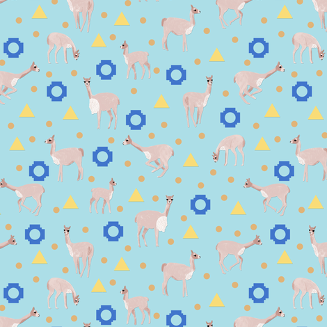 Inca Vicuña fabric by arwenartanddesign on Spoonflower - custom fabric