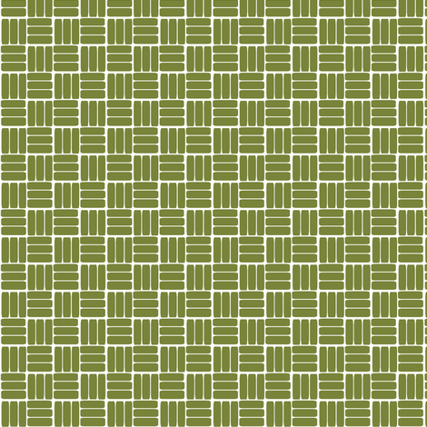 laundry basket weave in grass green fabric by ali*b on Spoonflower - custom fabric