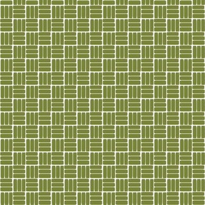 laundry basket weave in grass green