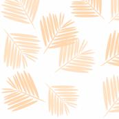 Leaves - tropical leaves, palm leaves, blush, peach, pastel