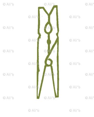 grass green clothespin