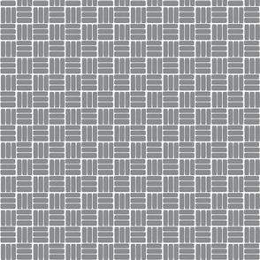 laundry basket weave in slate grey