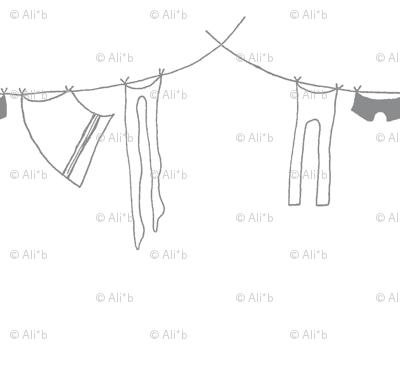 hanging laundry-slate grey