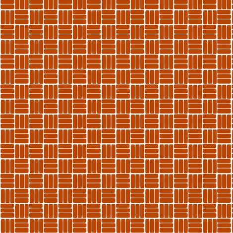 laundry basket weave in rust orange fabric by ali*b on Spoonflower - custom fabric