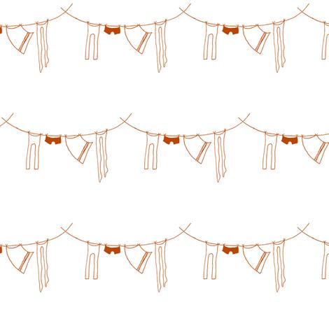 hanging laundry-rust orange fabric by ali*b on Spoonflower - custom fabric