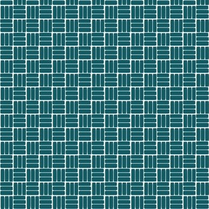 laundry basket weave in teal blue