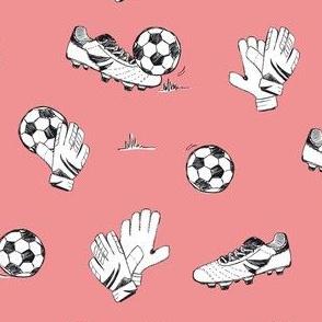Soccer sport game pink