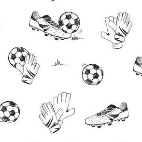 Soccer in black and white
