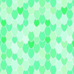 Mermaid Scales Green, Half Inch