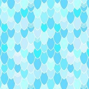 Mermaid Scales Blue Shimmer II