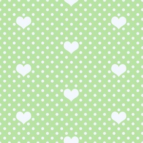 Polka Dot_and_Heart_Picnic Green