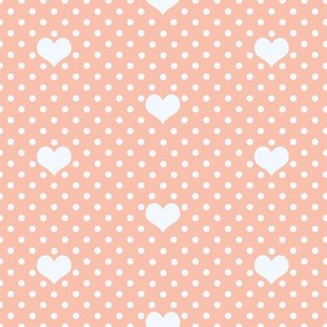 Polka Dot_and_Heart_Peach