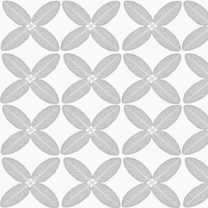 Grey leaf geometric pattern
