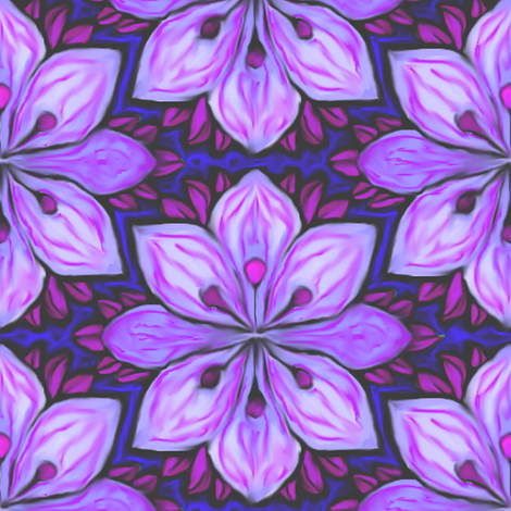 Impressionist Flower in Lavender fabric by eclectic_house on Spoonflower - custom fabric