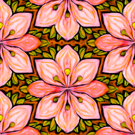 Impressionist Flower in Pink fabric by eclectic_house on Spoonflower - custom fabric