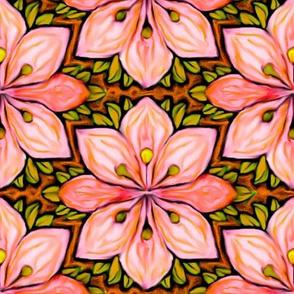 Impressionist Flower in Pink