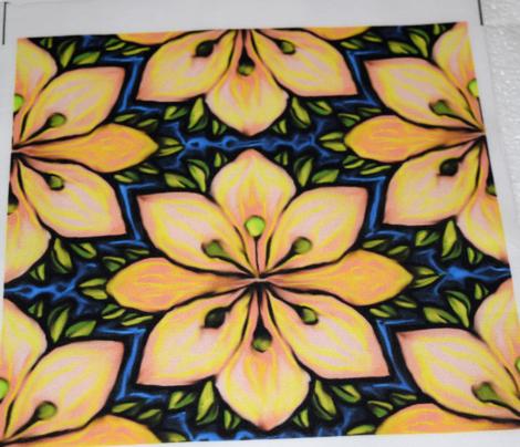 Impressionist Flower in Yellow