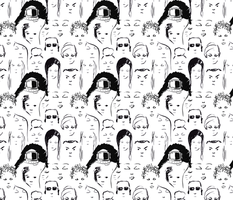 faces fabric by meissa on Spoonflower - custom fabric