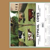Typical Cows Calendar Tea Towel
