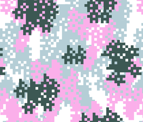 Pink Pixel Camouflage pattern fabric by artpics on Spoonflower - custom fabric