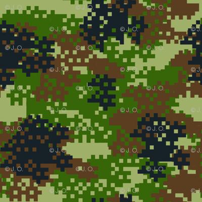 Pixel Woodland Camouflage pattern