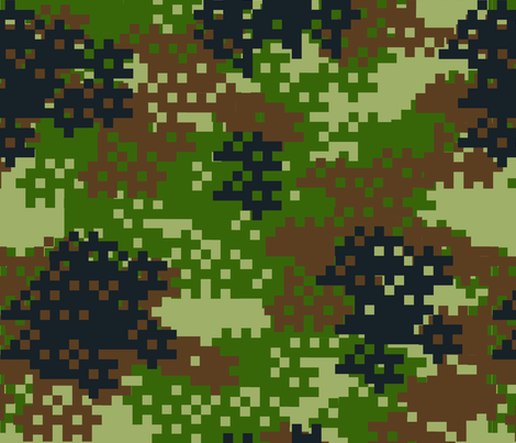 Pixel Woodland Camouflage pattern fabric by artpics on Spoonflower - custom fabric