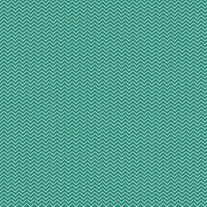 Teal and white chevron