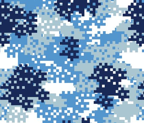 Pixel Blue Camouflage pattern fabric by artpics on Spoonflower - custom fabric