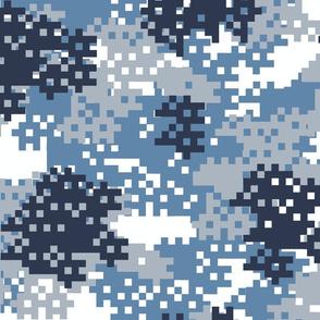Pixel Blue Camouflage pattern