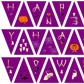Simple Purple Halloween Bunting