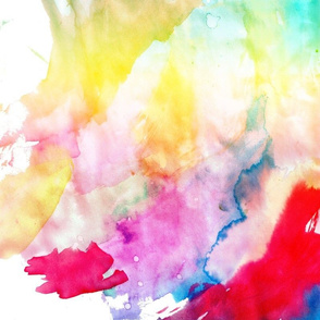 Abstract Rainbow Watercolor