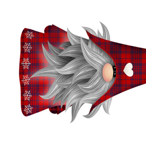 santa gnome - tea towel - panel