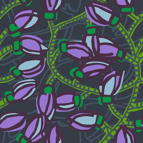 jade vine [plum + kelly green]