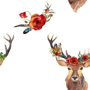 Deer in Love - White