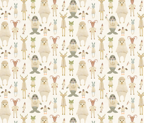 Animals of the Arctic circle fabric by katherine_quinn on Spoonflower - custom fabric