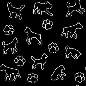 White Dogs n Paws // Outline