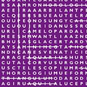 Crossword Puzzle // Purple