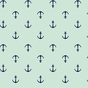anchors || mint and navy