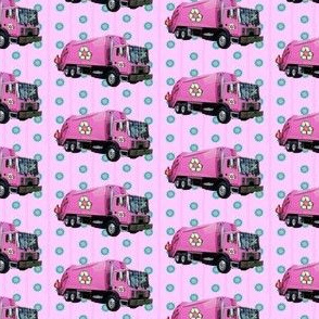 Pink Trash Truck Garbage Truck Pink Stripe