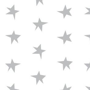 Wonky Stars - Grey