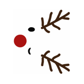 the red nosed rudolph - tea towel - panel
